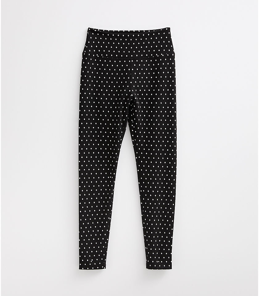 로프트 LOFT Lou & Grey Dotted Ponte Leggings,Black
