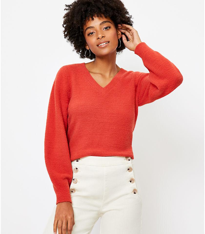 로프트 LOFT Draped Sleeve Sweater