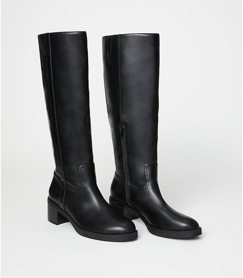 로프트 LOFT Knee High Boots,Black