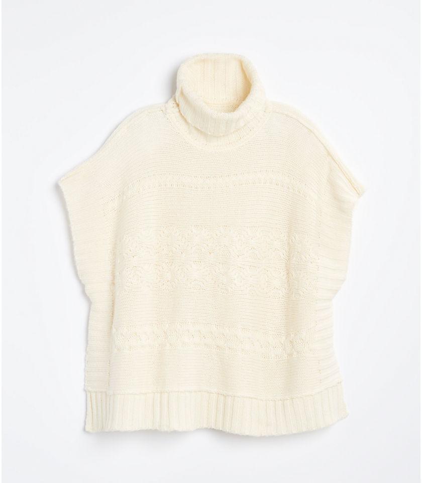 로프트 LOFT Cable Sweater Poncho