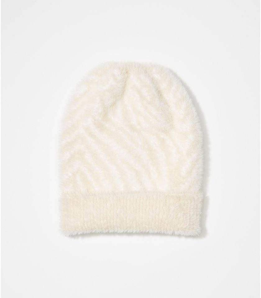 로프트 LOFT Zebra Print Hat,Whisper White