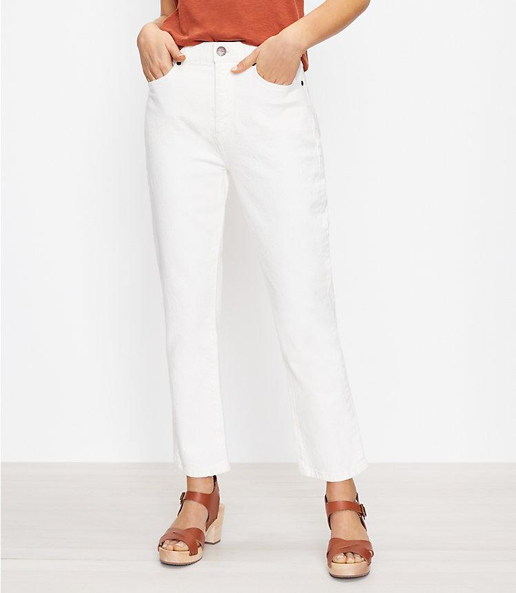 LOFT The High Waist Straight Crop Women's Jean Pant