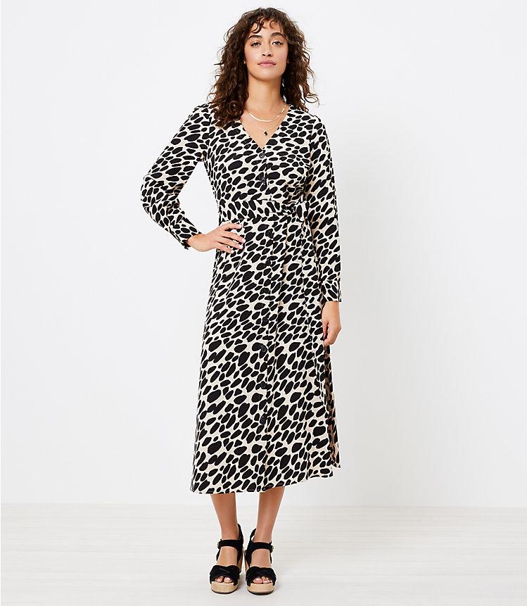 LOFT Cheetah Print Midi Women's Shirtdress