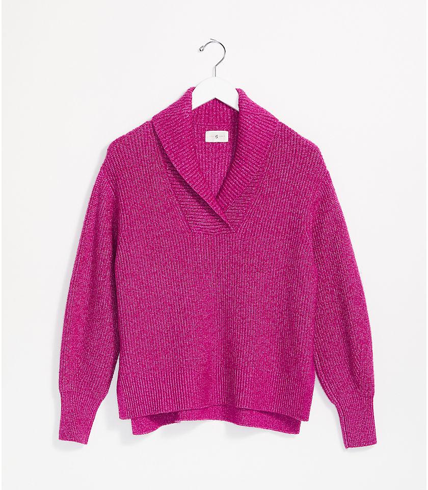 로프트 LOFT Lou & Grey Ribtrim Collared Sweater