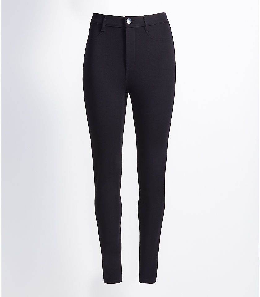 로프트 LOFT Curvy Five Pocket Leggings,Black