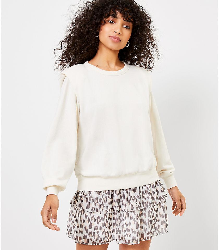 로프트 LOFT Padded Shoulder Sweatshirt