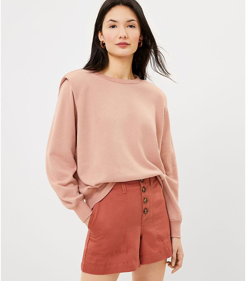 LOFT Women's Padded Shoulder Sweatshirt