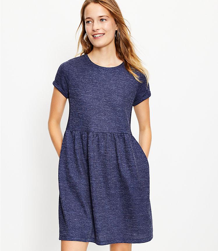 Ribbed Swing Pocket Tee Dress
