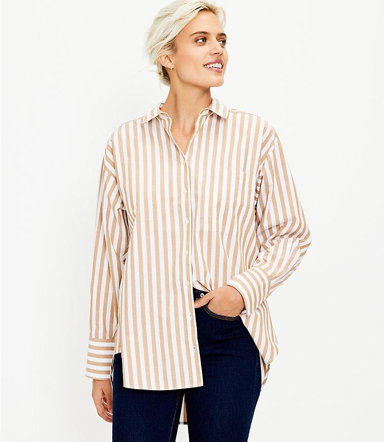 Striped Pocket Tunic Shirt