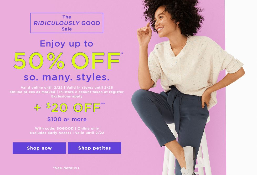 LOFT Outlet | The Best Deals on Women's Clothing and Accessories
