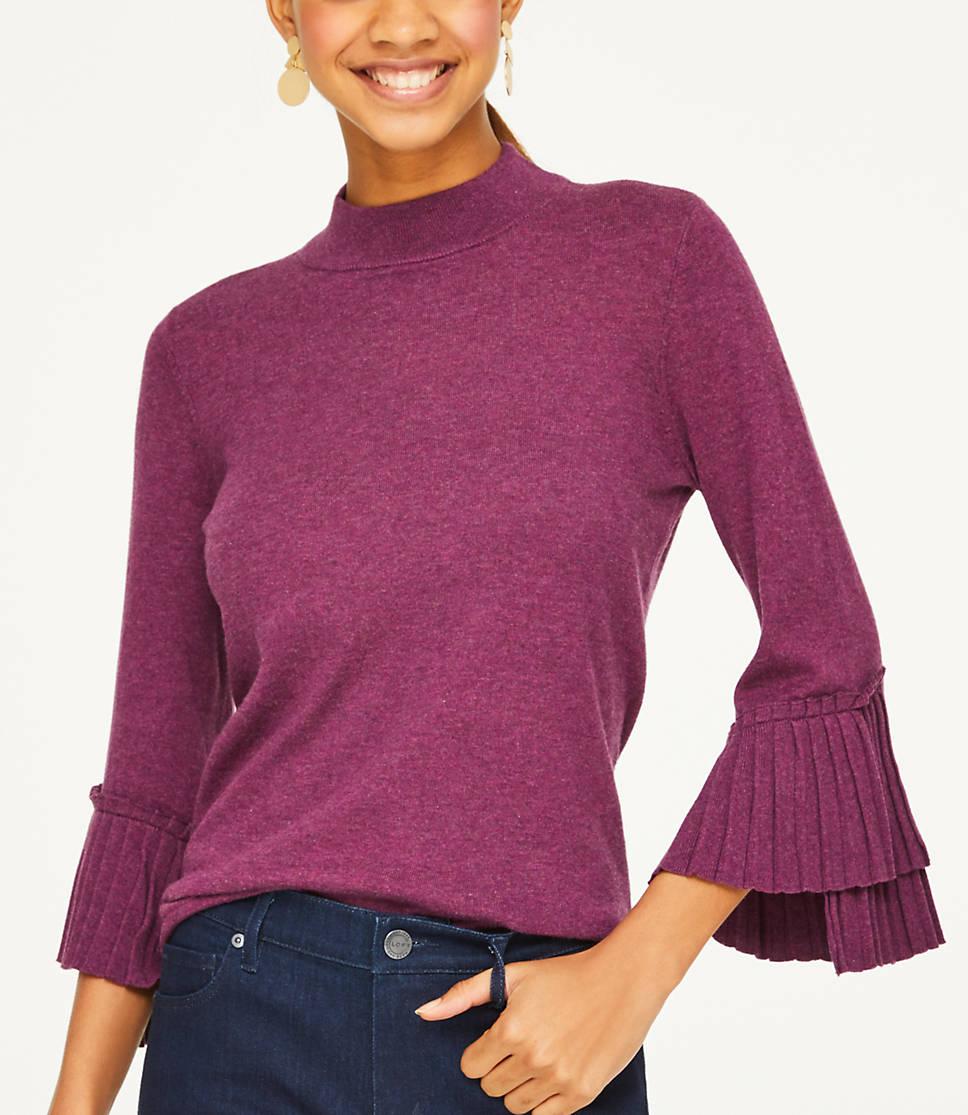 Cuffed Sweaters: Pleated Cuff Sweater