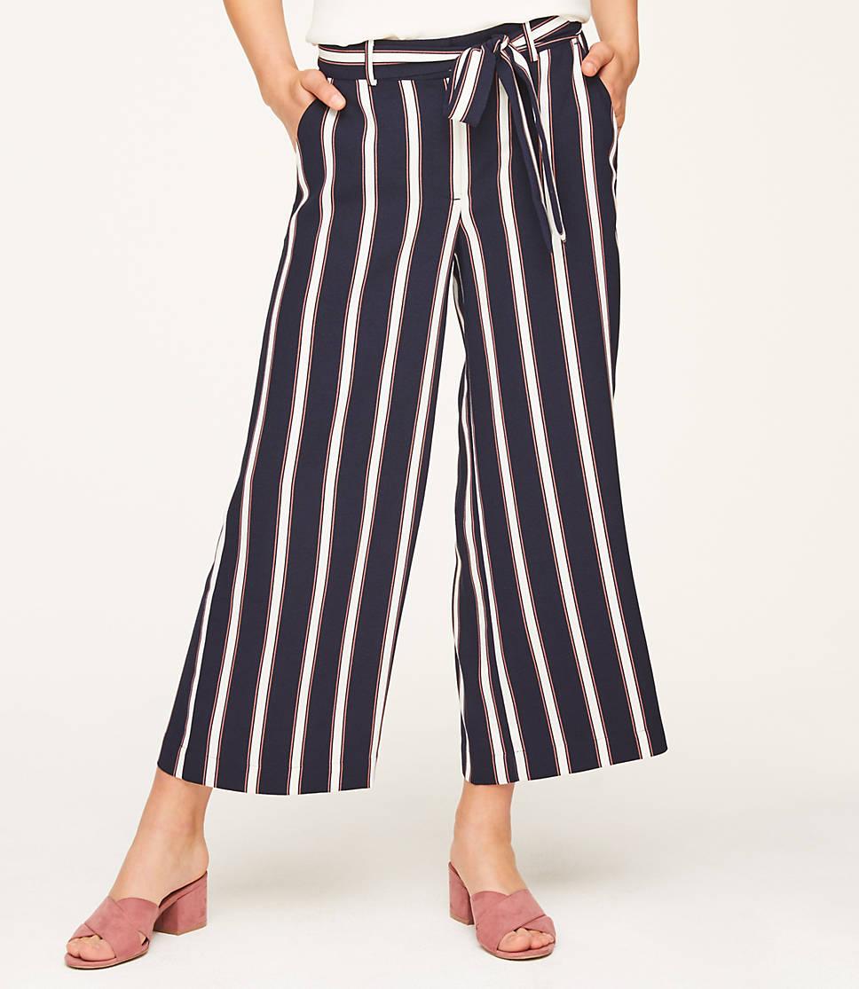 b1b9442c9f Striped Flowy Tie Waist Pants