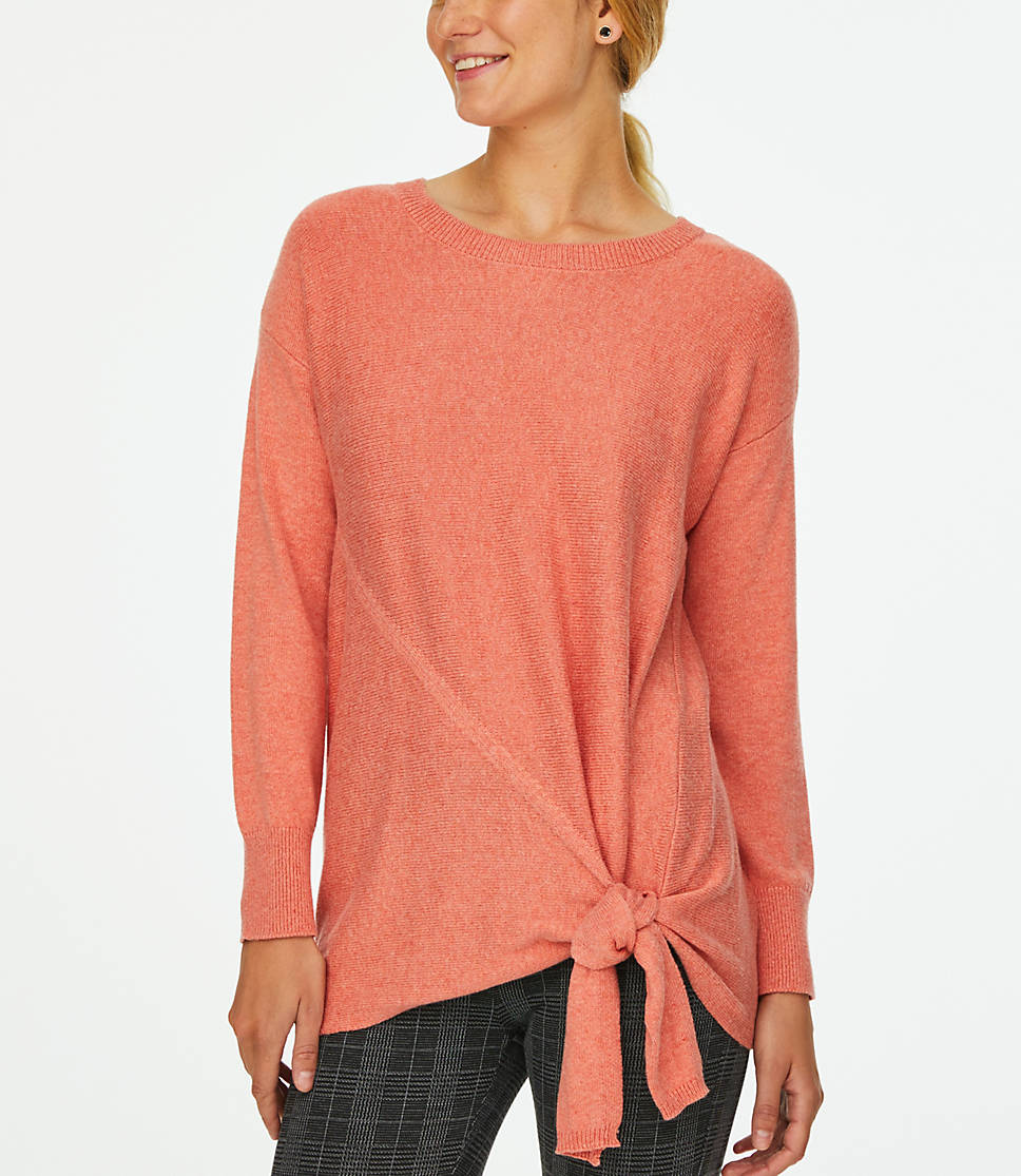 Women's Side Tie Tunic Sweater (Several Colors)