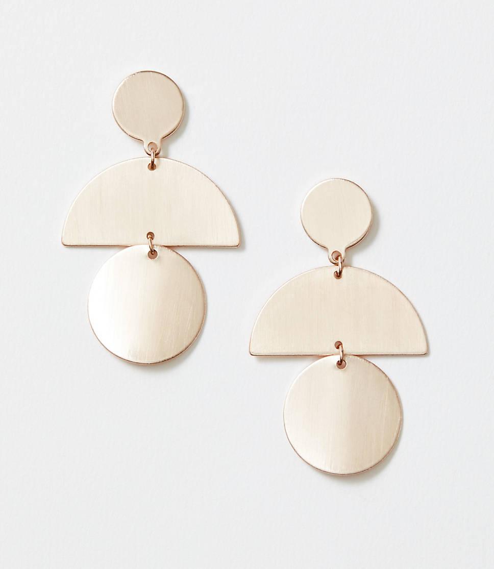 Geo Metallic Statement Earrings