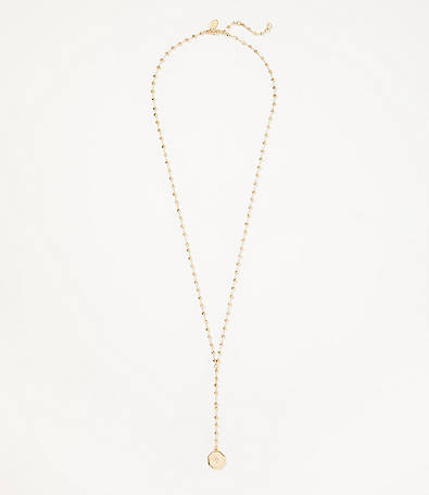 LOFT Ball Chain Y-Necklace