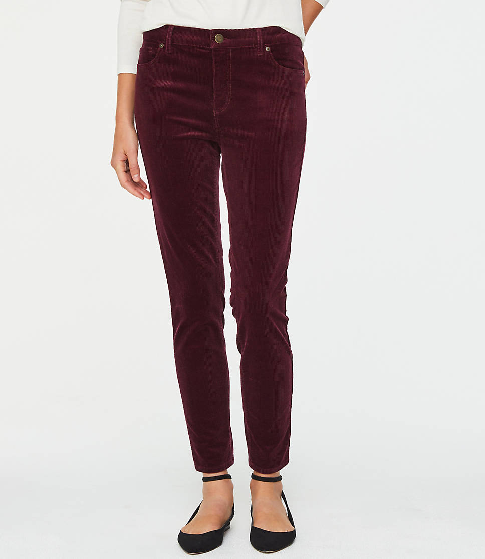 real deal lace up in 100% authentic Petite Modern Skinny Wide Wale Corduroy Pants