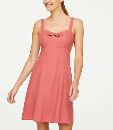 LOFT Bow Keyhole Dress