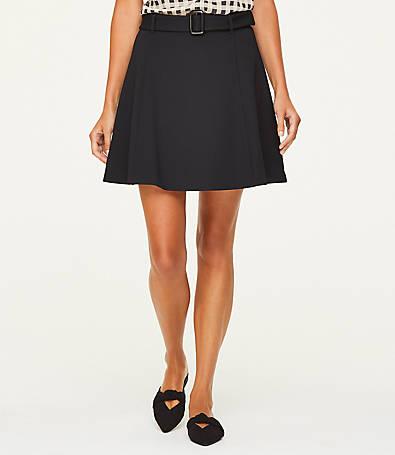 LOFT Belted Flippy Skirt