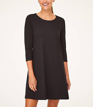 LOFT 3/4 Sleeve Swing Dress