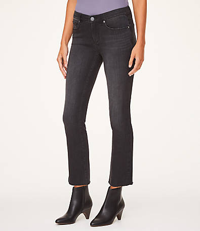 LOFT Petite Demi Boot Jeans in Black