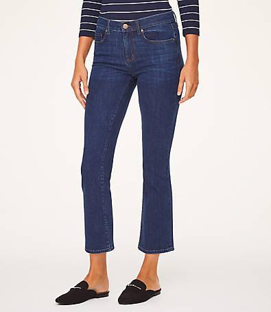 LOFT Petite Demi Boot Jeans in Indigo