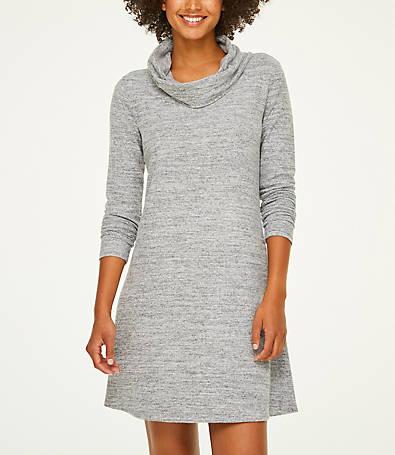LOFT Super Soft Cowl Neck Dress