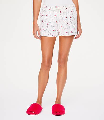 LOFT Cheers Pajama Shorts