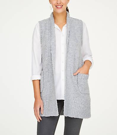 LOFT Duster Sweater Vest
