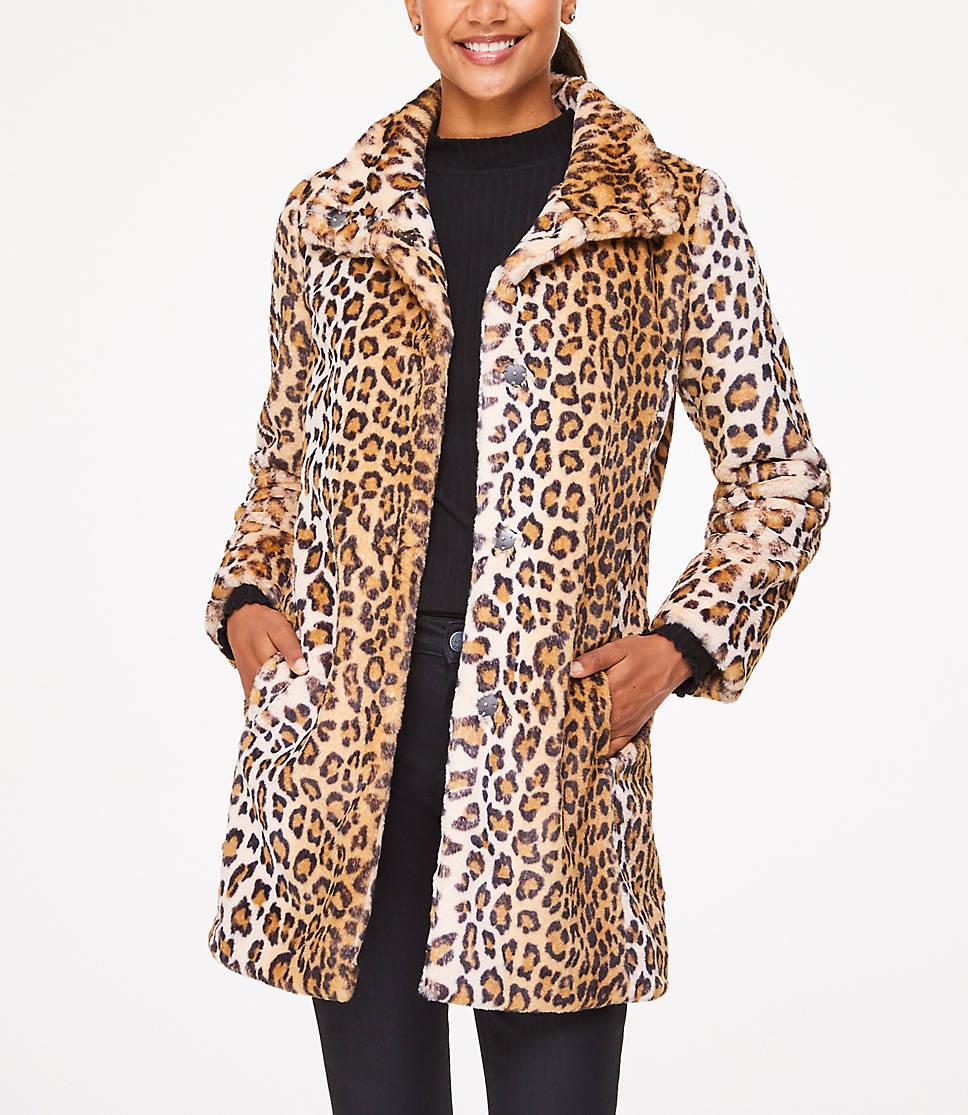 Betere Leopard Print Faux Fur Coat WH-67