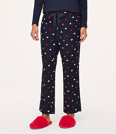 LOFT Heart Pajama Pants