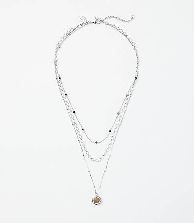 LOFT Beaded Chain Necklace