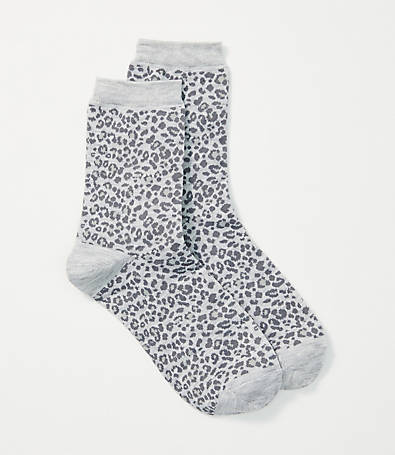 LOFT Animal Print Crew Socks