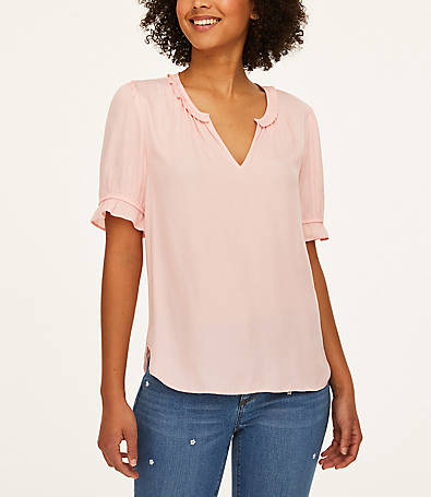 LOFT Bubble Sleeve Top