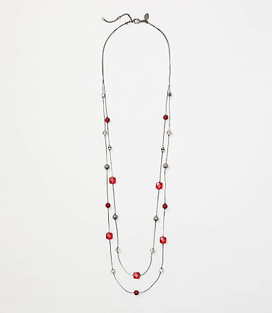LOFT Beaded Illusion Necklace