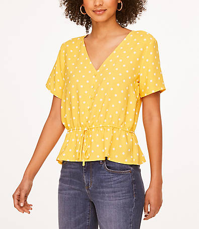 LOFT Button Tie Waist Top