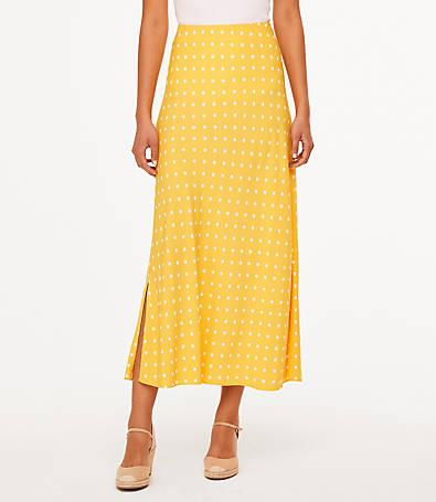LOFT Petite Polka Dot Maxi Skirt