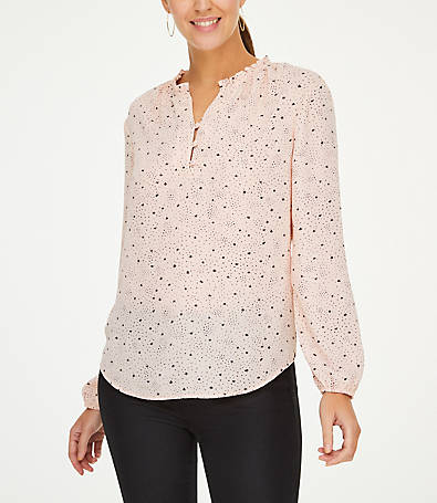 LOFT Star Ruffle Collar Blouse