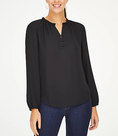 LOFT Ruffle Collar Blouse