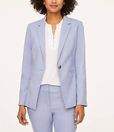 LOFT Petite One Button Blazer