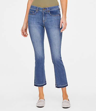 LOFT Petite Released Hem Demi Bootcut Jeans in Lotus Wash