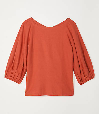 LOFT Drapey Boatneck Top