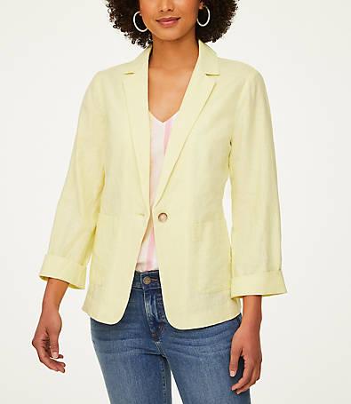 LOFT Linen Blend Blazer