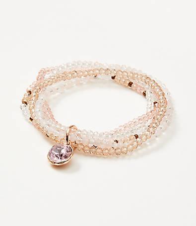 LOFT Beaded Stretch Bracelet