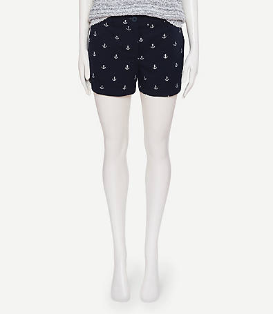 LOFT Anchor Twill Shorts with 4 Inch Inseam