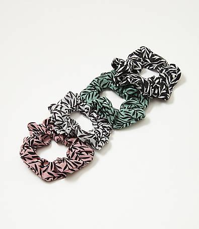 LOFT Leafed Mini Scrunchie Set