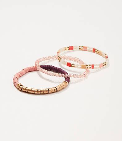 LOFT Beaded Stretch Bracelet Set