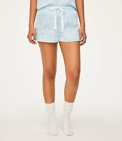 LOFT Lemon Pajama Shorts