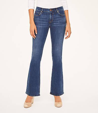 LOFT Curvy Bootcut Jeans in Modern Indigo Wash