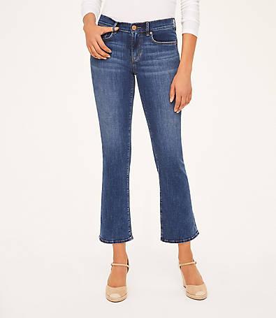LOFT Demi Bootcut Jeans in Modern Indigo Wash