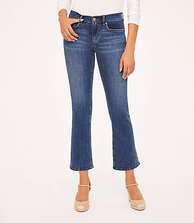 LOFT Curvy Demi Bootcut Jeans in Modern Indigo Wash